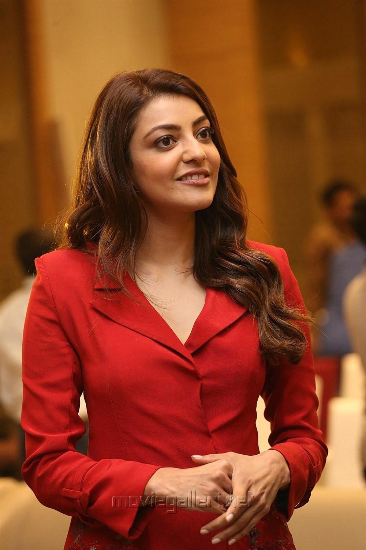 Actress Kajal Agarwal @ Kavacham Movie Teaser Launch Photos