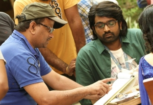 KV Anand, Vijay Sethupathi @ Kavan Movie Working Stills