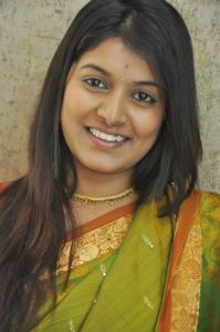 Cute Kavya Kumar @ Hrudaya Kaleyam Success Meet in Kalamandir