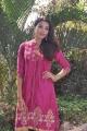 Telugu Actress Kavya Shetty Latest Photos in Pink Churidar Dress