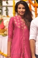 Telugu Actress Kavya Shetty Photos in Pink Churidar Dress