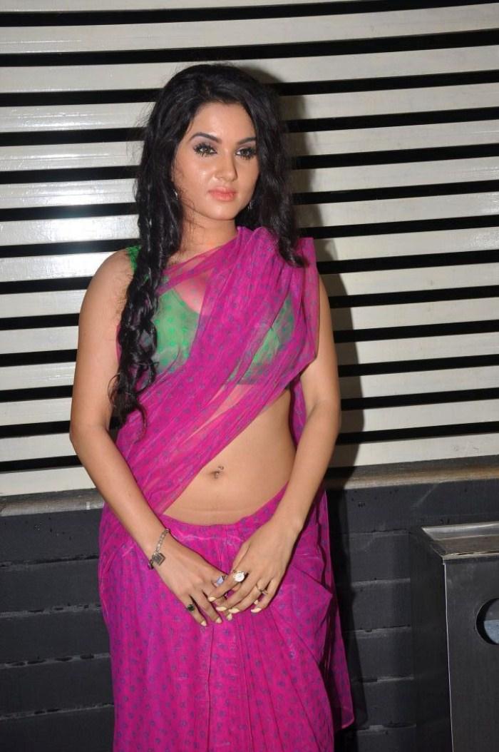 Kavya Singh Saree Back Kavya Singh in Pink Saree Hot