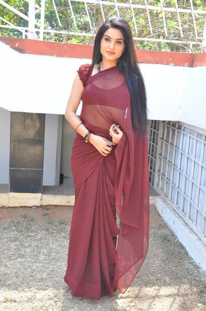 Kavya Singh Saree Back Kavya Singh Hot Saree Stills