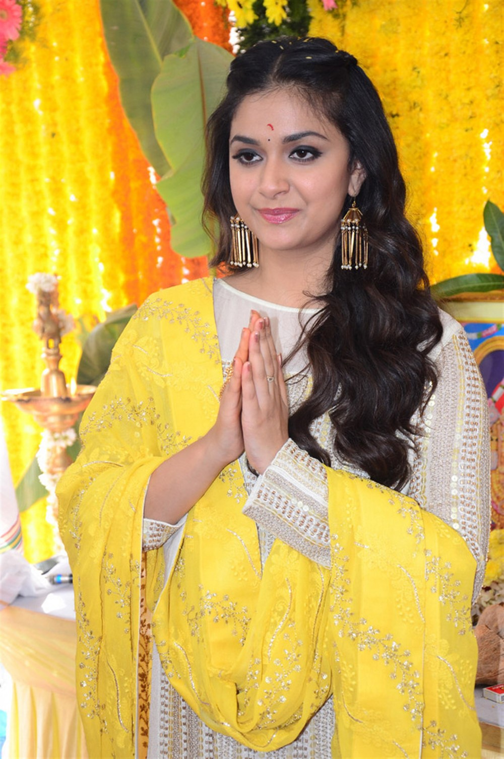 Actress Keerthy Suresh New Movie Opening Stills