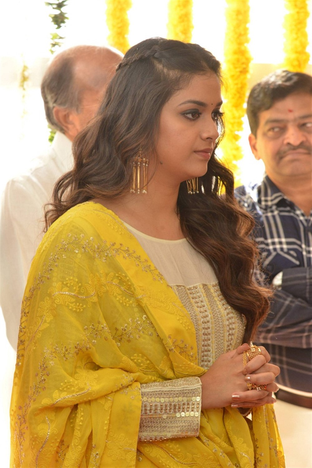 Actress Keerthi Suresh New Movie Opening Stills