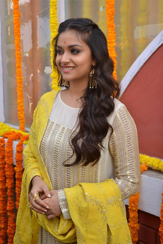 Actress Keerthi Suresh New Movie Opening Stills