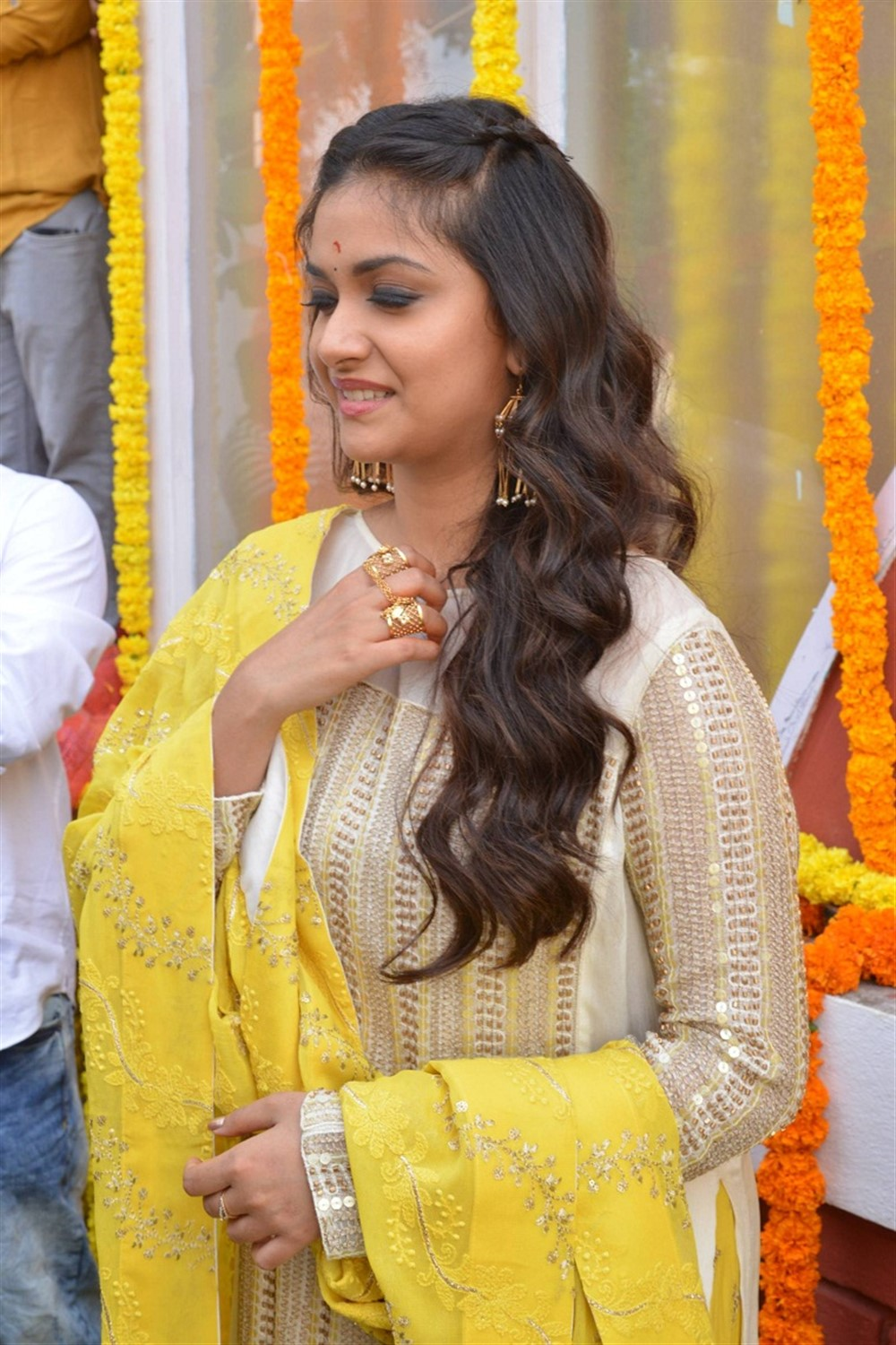 Actress Keerthi Suresh @ East Coast Productions No 3 Movie Opening Stills
