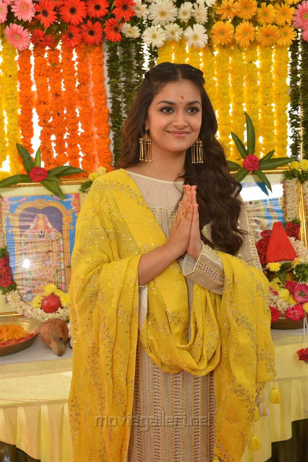 Actress Keerthy Suresh Stills @ East Coast Productions No 3 Movie Opening