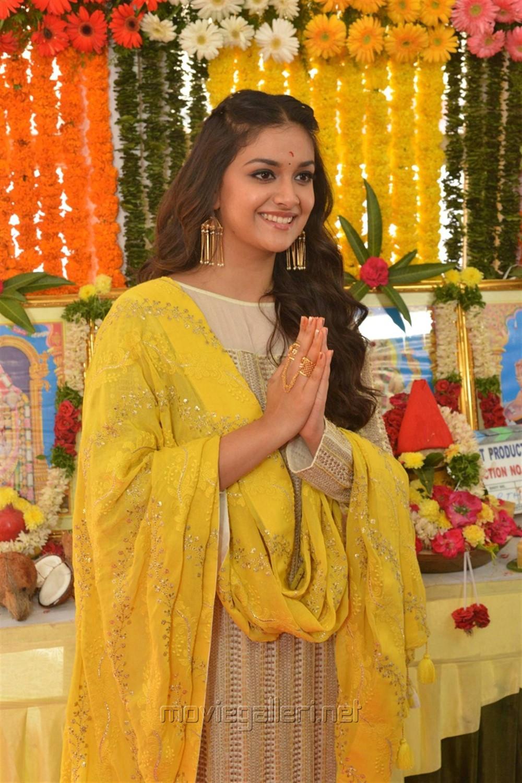 Actress Keerthy Suresh @ East Coast Productions No 3 Movie Launch Stills
