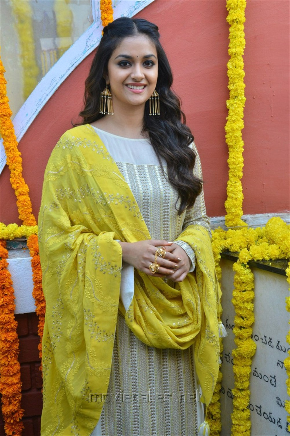 Actress Keerthy Suresh Stills @ East Coast Productions No 3 Movie Launch