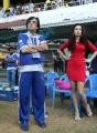 Madhuri Bhattacharya at CCL 3 Kerala Strikers vs Karnataka Bulldozers Match Photos