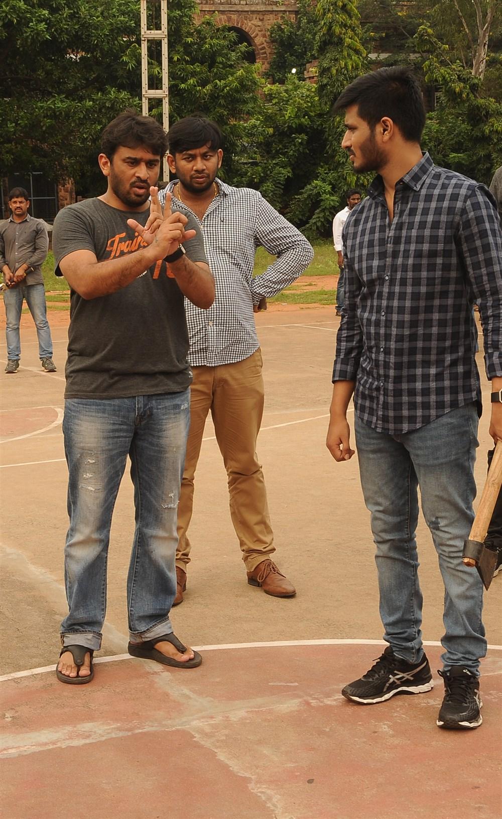 Director Sudheer Varma @ Keshava Movie Working Stills