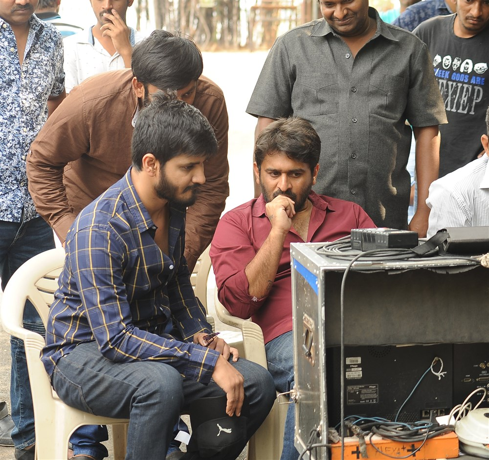 Nikhil, Sudheer Varma @ Keshava Movie Working Stills