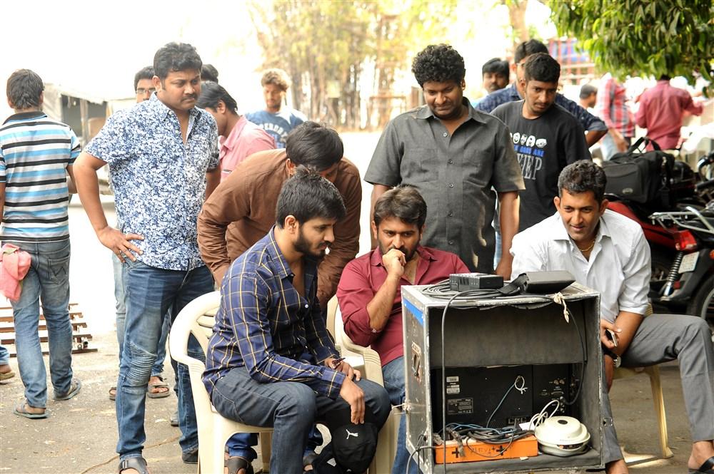 Nikhil, Sudheer Varma @ Keshava Movie Working Stills