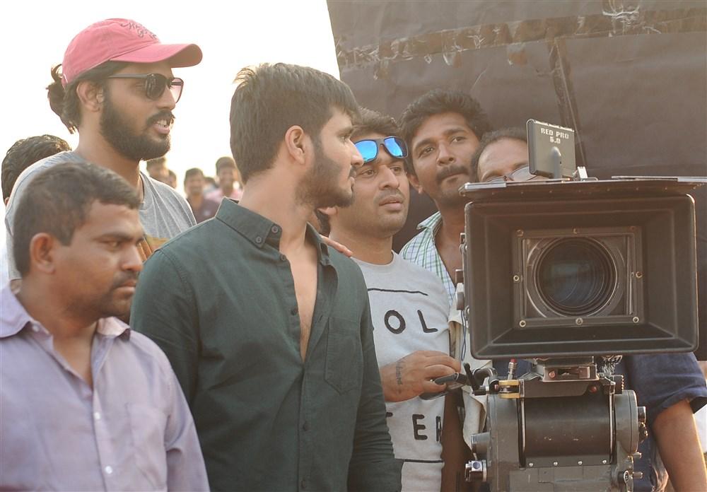 Nikhil Siddharth, Sudheer Varma @ Keshava Movie Working Stills