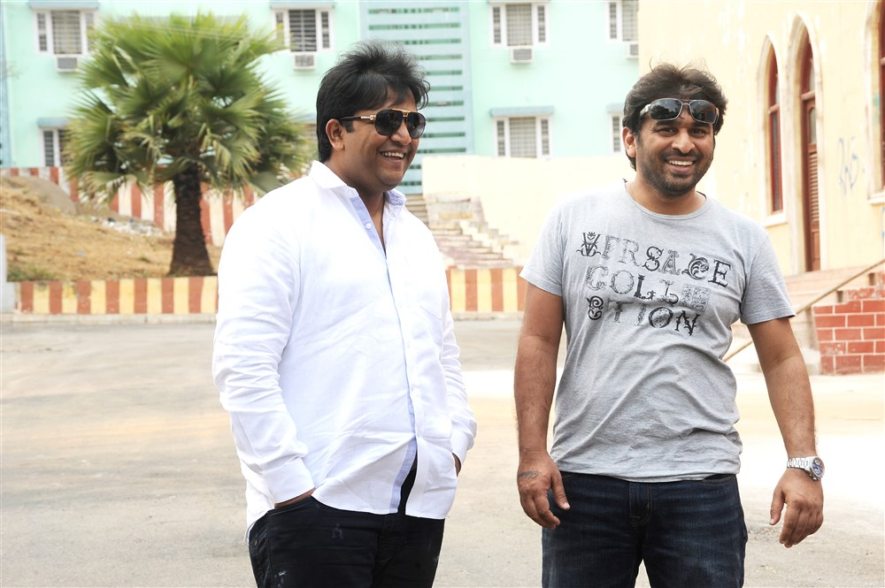 Abhishek Nama, Sudheer Varma @ Keshava Movie Working Stills