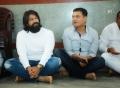 Yash, Vijay Kiragandur @ KGF Chapter 2 Movie Pooja Stills