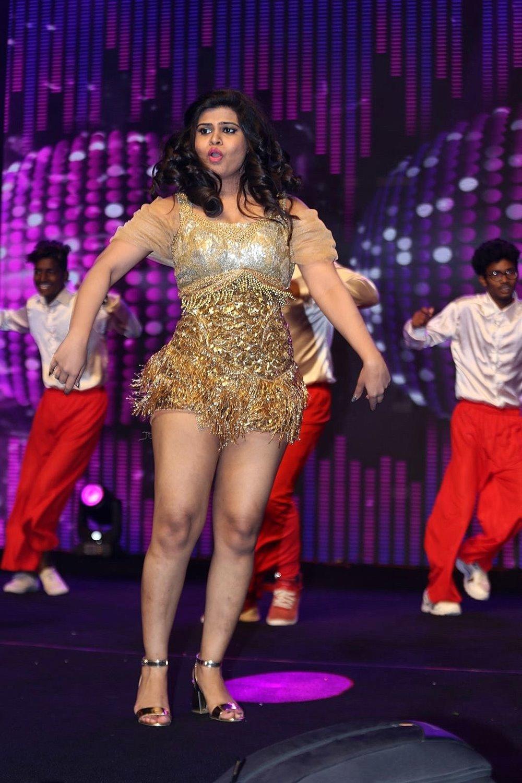 Actress Alekhya Angel Dance @ KGF Movie Pre Release Event Stills