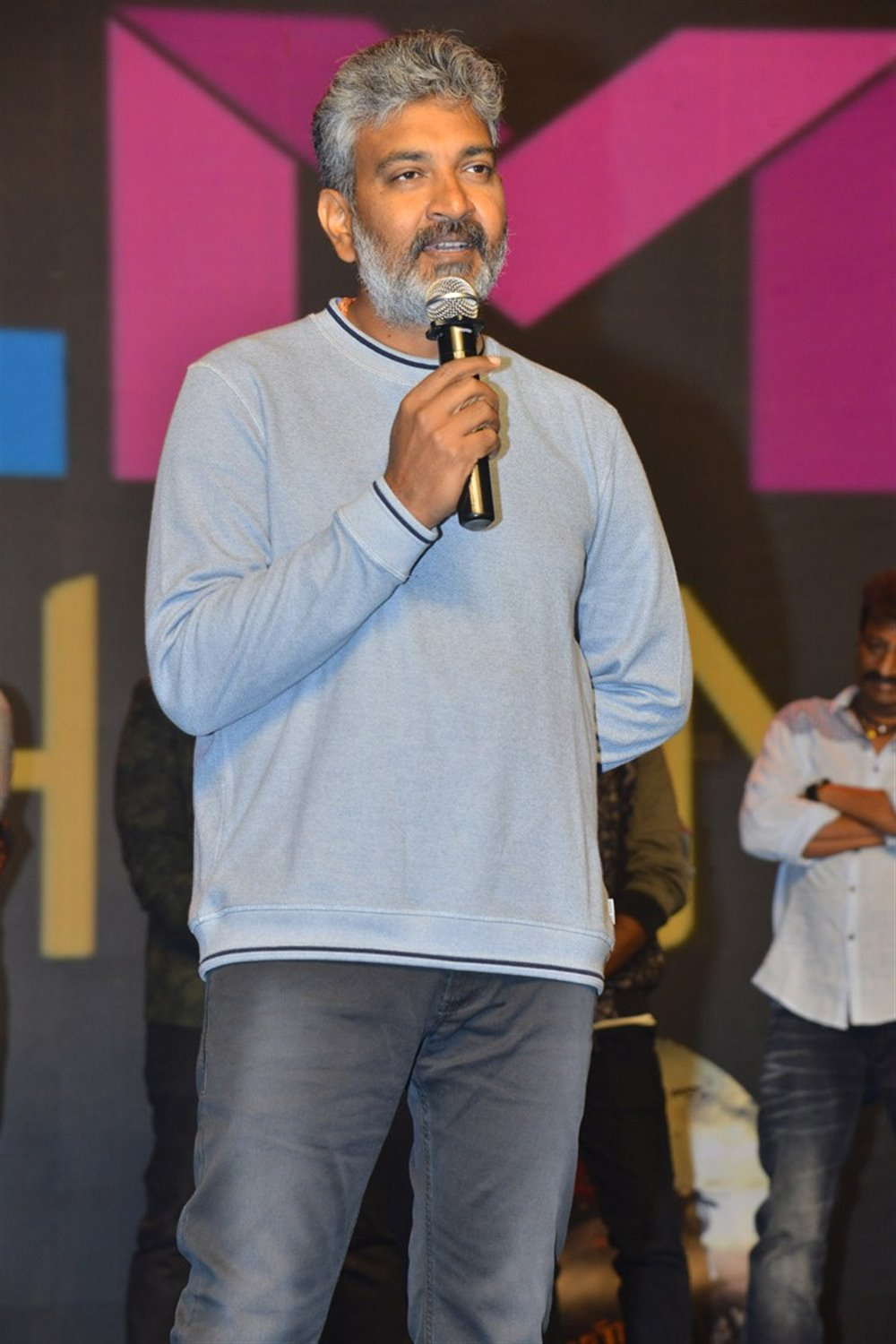 SS Rajamouli @ KGF Movie Pre Release Event Stills