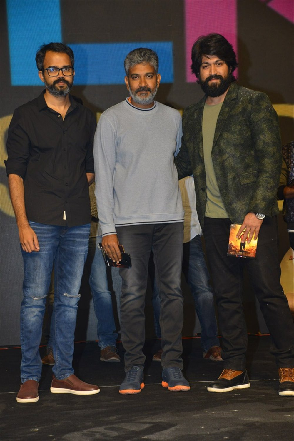 Prashanth Neel, SS Rajamouli, Yash @ KGF Movie Pre Release Event Stills