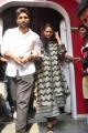 Allu Arjun, Sneha Reddy @ Khaidi No. 150 Theater Coverage @ Sandhya 70MM, RTC X Roads, Hyderabad