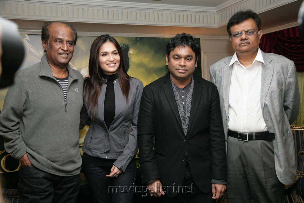Rajnikanth,Soundarya,AR Rahman,Dr.J.Murali at Kochadaiyaan press conference in London
