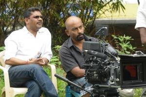 Director Kathir, Cinematographer Vincent at Kodai Vidumurai Movie On Location Stills
