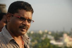 Director Kathir at Kodai Vidumurai Movie On Location Stills