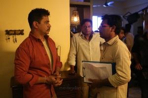 Arjun, Andrew Louis @ Kolaikaran Movie Location Pics HD