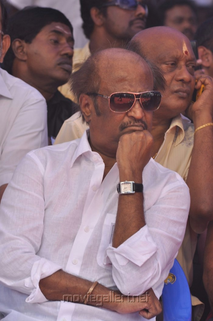 Rajinikanth Fasts in Support of Sri Lankan Tamils Photos