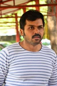Actor Karthi @ Komban Movie Press Show Stills