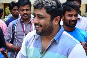 Producer KE Gnanavel Raja @ Komban Movie Press Show Stills
