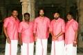 Samuthirakani, SR Prabhakaran, Inder Kumar, Sasikumar, NK Ekambaram @ Kombu Vacha Singamda Movie Pooja Stills