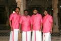 Samuthirakani, SR Prabhakaran, Sasikumar, NK Ekambaram @ Kombu Vacha Singamda Movie Pooja Stills