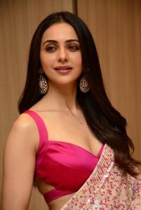 Heroine Rakul Preet Singh @ Konda Polam Movie Pre Release Event Stills