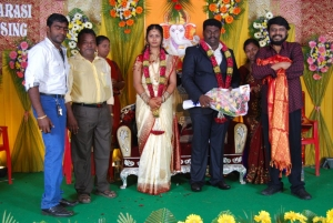 Vikraman @ Comedy Actor Kottai Perumal Son Wedding Reception Photos