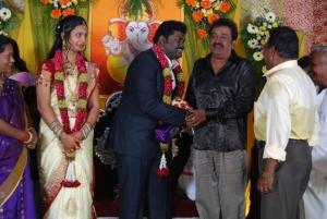 Pandu @ Comedy Actor Kottai Perumal Son Wedding Reception Photos