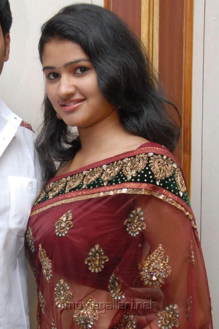 Actress Kousalya Hot Photos in Red Transparent Saree