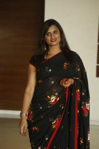 Telugu Singer Kousalya Black Saree Photos