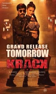 Ravi Teja, Shruti Haasan in Krack Movie Release Posters