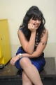 Telugu Actress Krithika Hot Photos in Blue Dress