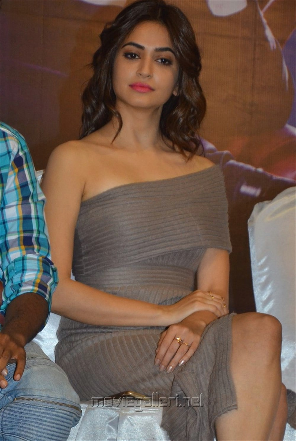 Actress Kriti Kharbanda Pics @ Bruce Lee Press Meet
