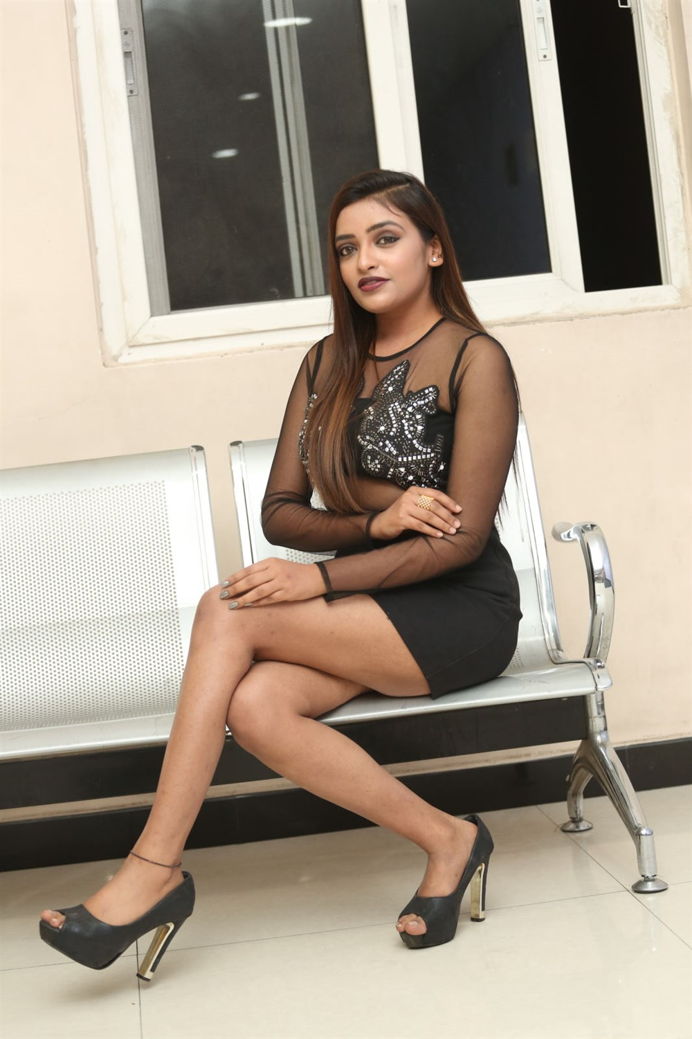 Actress Ashi Roy @ KS 100 Teaser Launch Photos