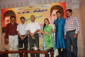 KS Chithra at Idhaya Geethangal Press Meet Event Stills
