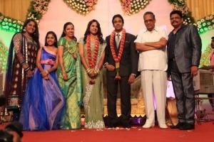 AVM Saravanan at KS Ravikumar Daughter Wedding Reception Photos