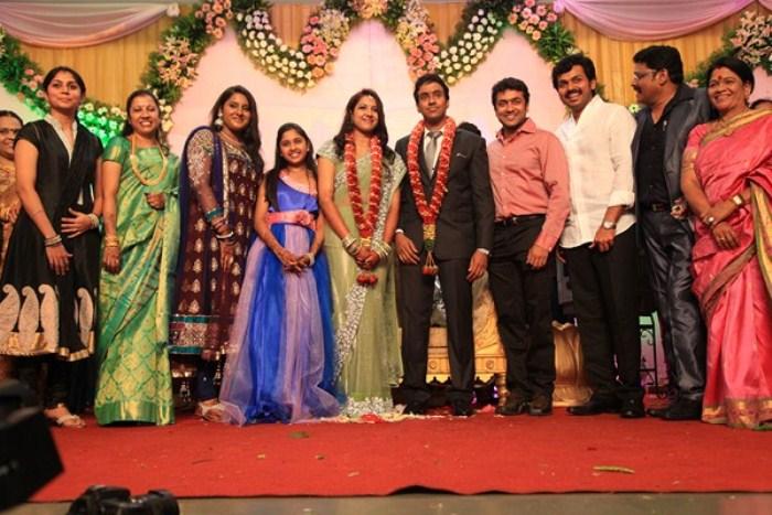 Picture 221692 | Suriya, Karthi at KS Ravikumar Daughter ...  Actor Karthi Daughter Umayaal Photos
