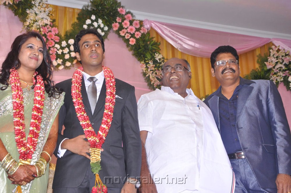 Pazha Karuppaiah at KS Ravikumar Daughter Wedding Reception Stills
