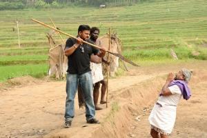 Prabhu Solomon, Thambi Ramaiah at Kumki Shooting Spot Stills