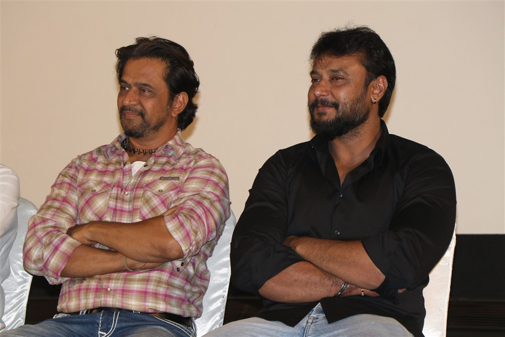 Arjun, Darshan @ Kurukshetram Movie Press Meet Photos