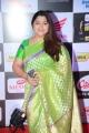 Actress Kushboo Saree Pics @ Mirchi Music Awards South 2015